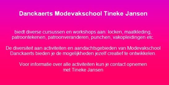 Danckaert Modevakschool Tineke Jansen