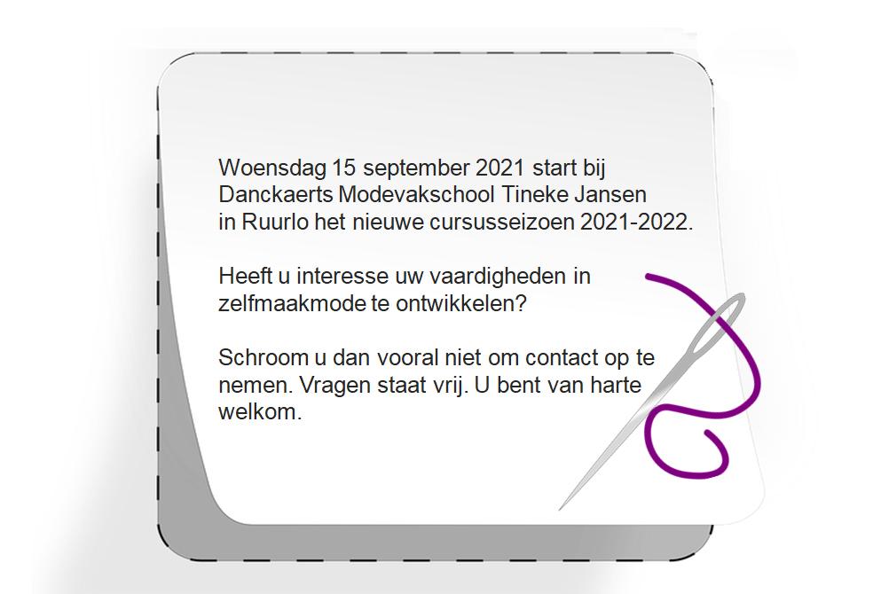 Danckaerts modevakschool Tineke Jansen